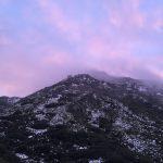 冠雪の奥岳を歩く