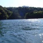 穏やかで綺麗な川で。